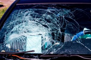 Car Wreck Cracked Windshield