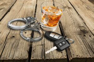 handcuffs liquor keys drunk driving
