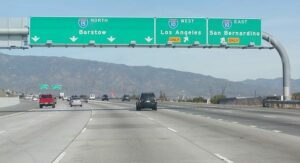 15 freeway to Las Vegas